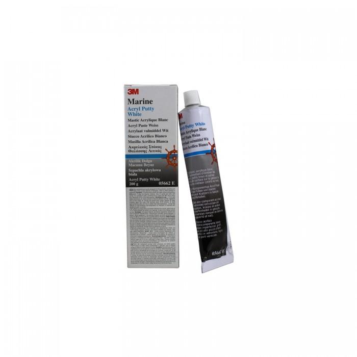 Акрилова однокомпонентна шпаклівка 3M™ Marine Acryl Putty White (200г)