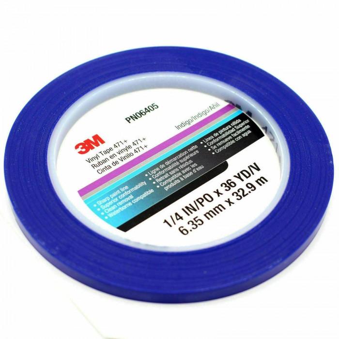 Вінілова стрічка 3M™ 471+ 6мм*33м синя
