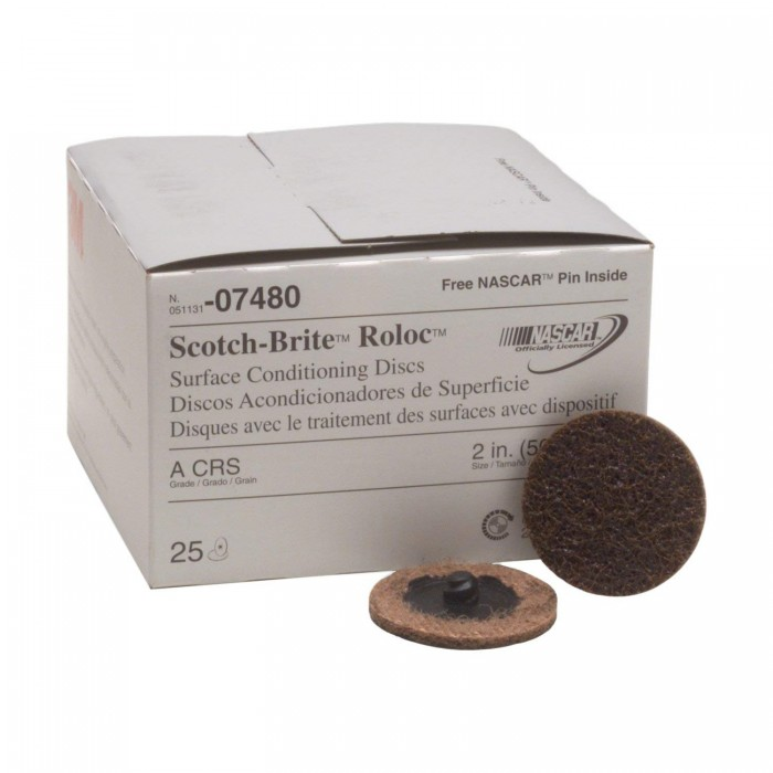 Круги 3M™ Scotch-Brite™ SC-DR ø50мм для підготовки поверхні A-CRS Roloc™
