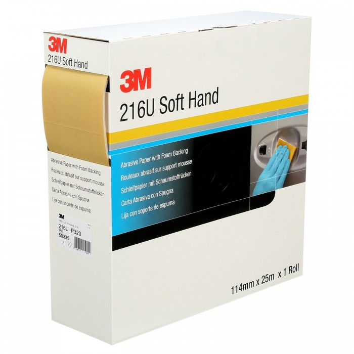 Мякі рулони 3M™ 216U Pre-Cut 114мм*25м P800