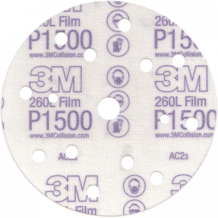 Абразивний диск 3M™ Hookit™ 260L ø150мм P1000
