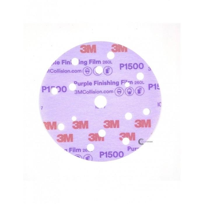 Абразивний диск 3M™ Hookit™ 260L Purple ø150мм P1500