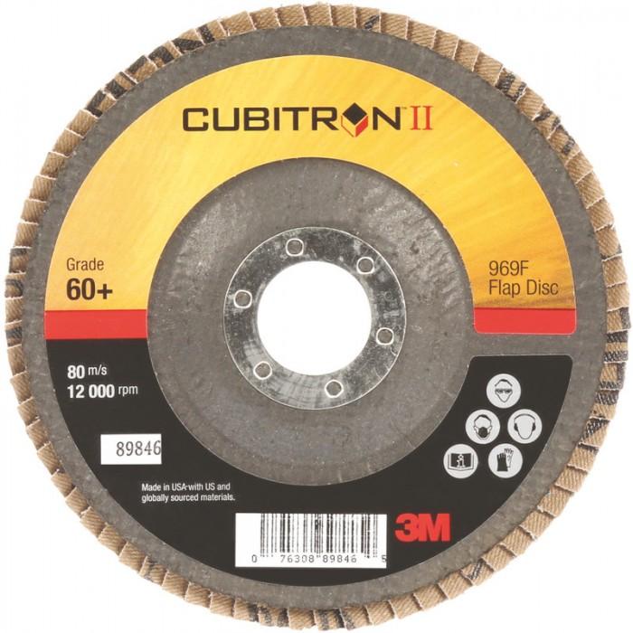 Пелюстковий шліфувальний круг 3M™ 969F Cubitron™ II ø125мм*22мм 80+ конічний