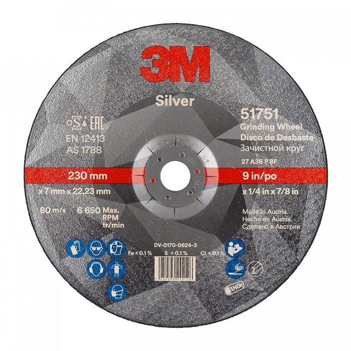 Зачистний круг 3M™ Silver T27 Inox ø230мм*7.0*22мм