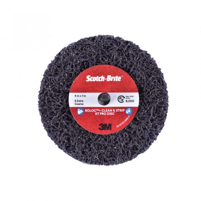 Зачистний круг 3M™ Scotch-Brite™ Clean&Strip XT Pro ZR ø100мм*13мм*6мм Roloc™+
