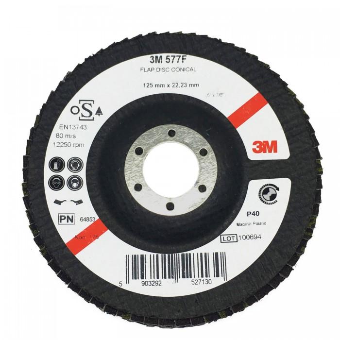 Пелюстковий шліфувальний круг 3M™ 577F ø125мм*22мм Р40