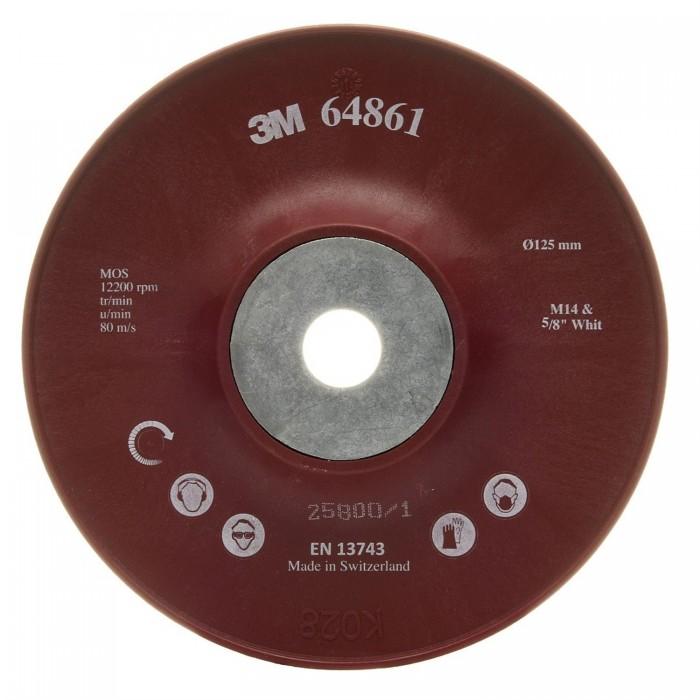 Оправка 3M™ для фібрових кругів Cubitron™ II ø125мм*22мм М14 ребриста