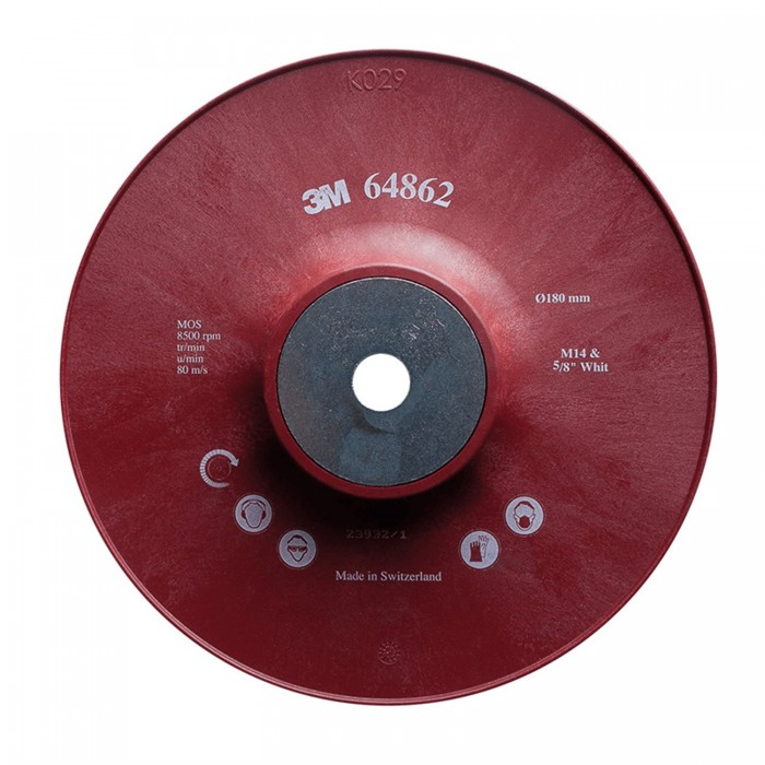 Оправка 3M™ для фібрових кругів Cubitron™ II ø180мм*22мм М14 ребриста