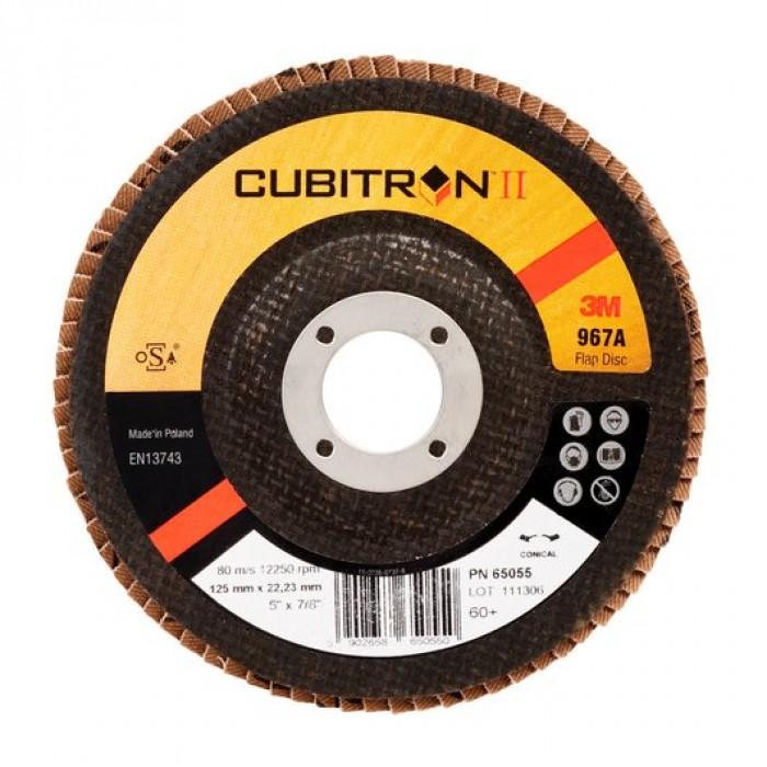 Пелюстковий шліфувальний круг 3M™ 967A Cubitron™ II ø125мм*22мм 80+ конічний