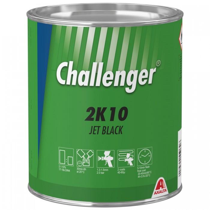 Двокомпонентна емаль Challenger 2K Topcoat 2K10 Jet Black (3.5л)