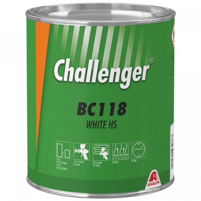 Базове покриття Challenger Basecoat BC118 White HS (3.5л)