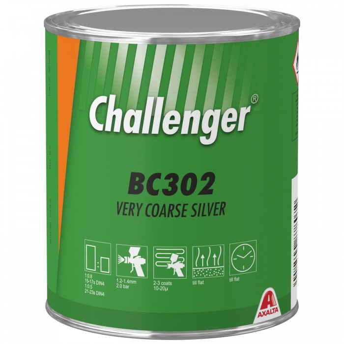 Базове покриття Challenger Basecoat BC302 Very Coarse Silver (1л)