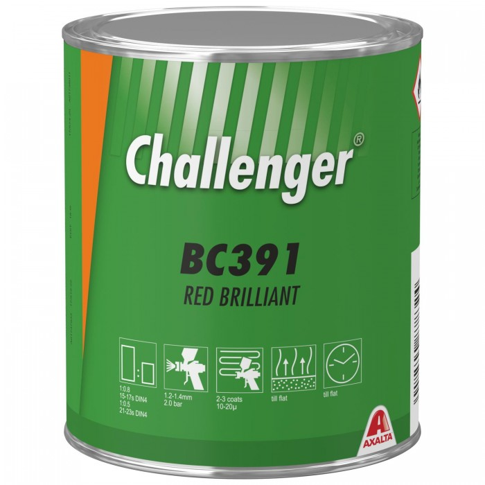 Базове покриття Challenger Basecoat BC391 Red Brilliant (1л)