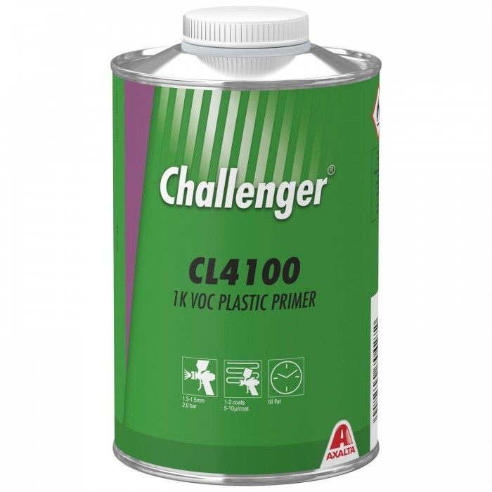 Грунт по пластику Challenger 1K VOC Plastic Primer (1л)