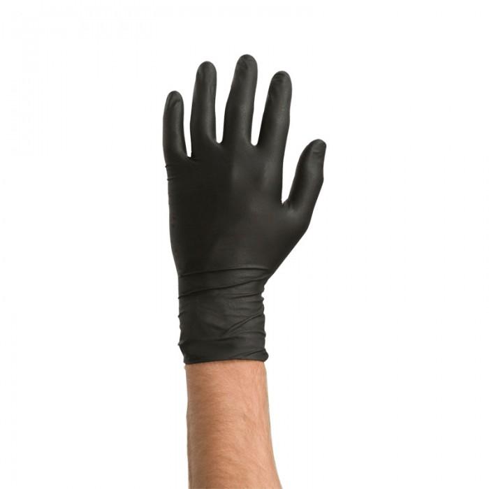 Нітрилові рукавички Colad розмір 8/M чорні (60шт)