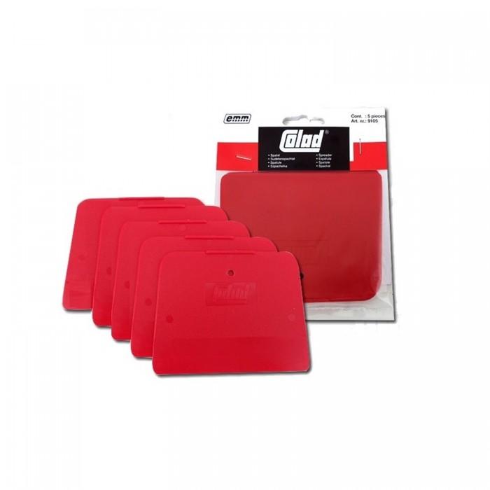 Пластиковий шпатель Colad 120*90мм червоний гнучкий (5шт)