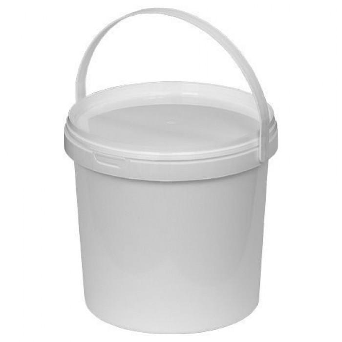 Відро пластикове з ручкою і кришкою біле (3л)