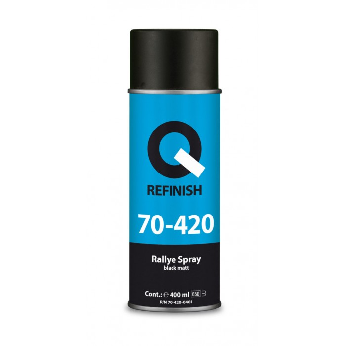 Фарба Q-Refinish Rallye Spray в аерозолі чорна матова (400мл)
