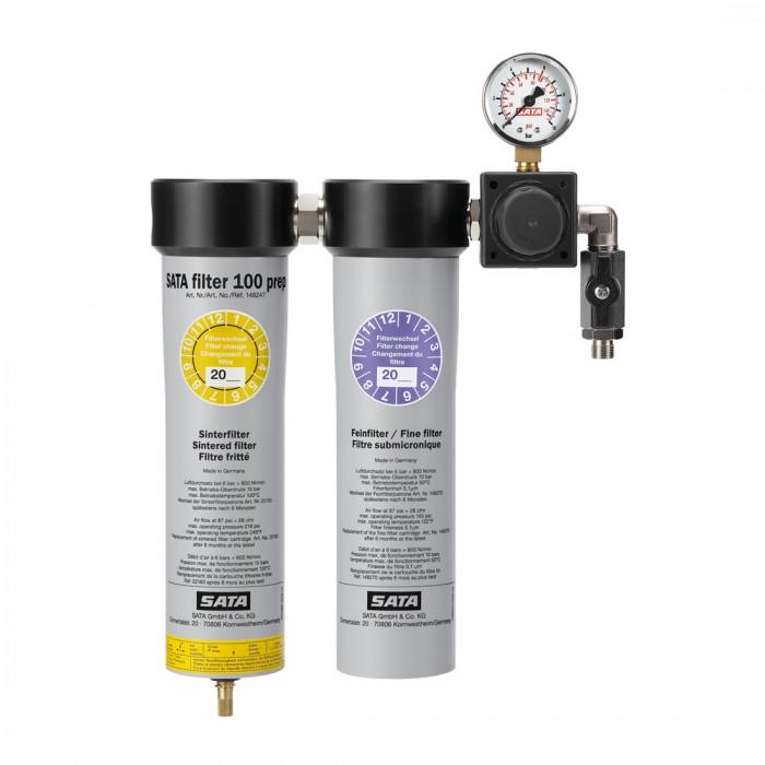 Двоступеневий фільтр SATA filter 100 Prep з регулятором тиску на виході 1*1/4