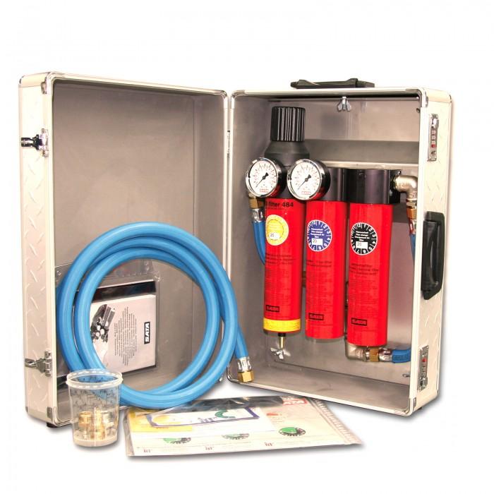 Триступеневий фільтр SATA filter 484 с регулятором тиску і вихідним блоком 2*1/4 в кейсі
