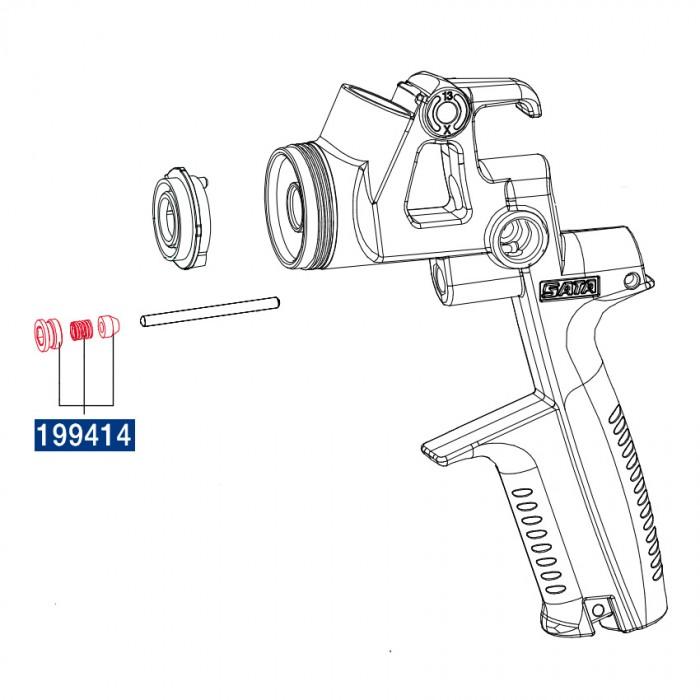 Компплект ущільнювачів для голки і поршня курка SATAminijet 4400