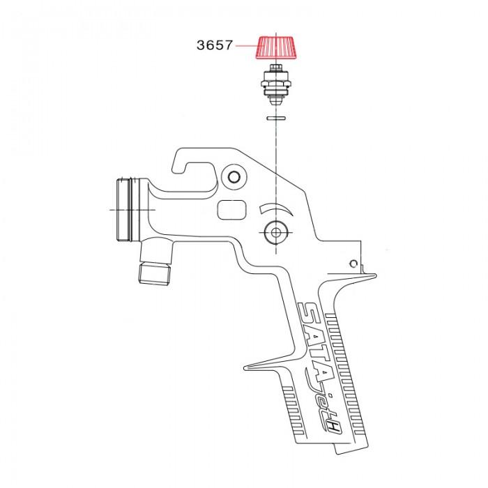 Ручка регулятора тиску для SATA spray master RP
