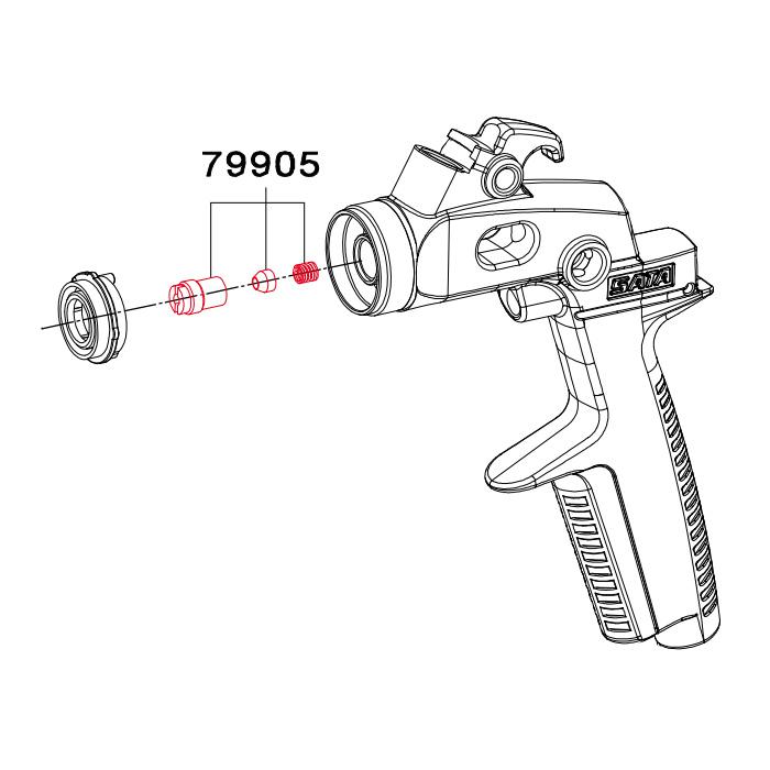 Комплект ущільнювачів голки для краскопультів SATAminijet 3000