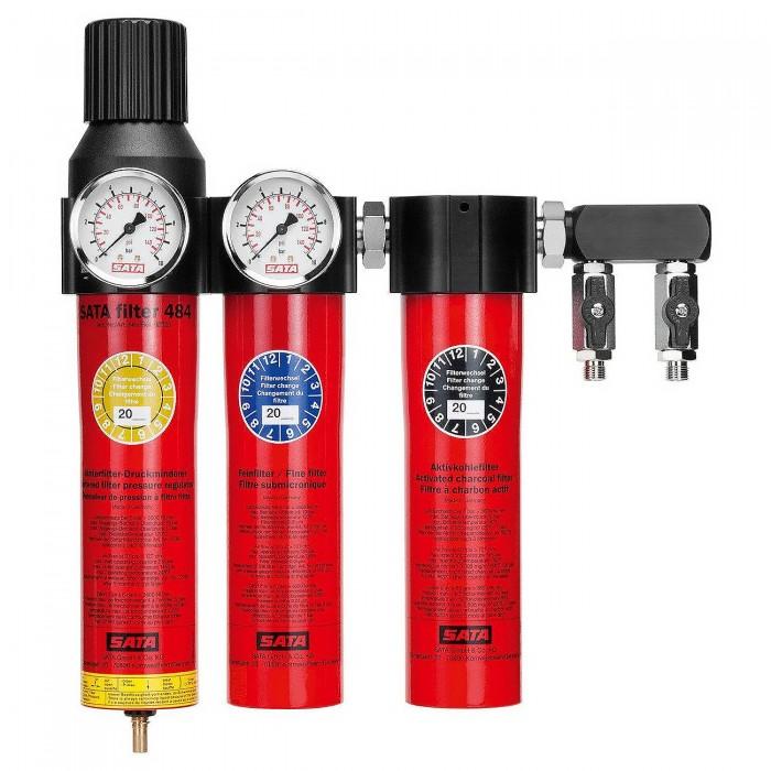 Триступеневий фільтр SATA filter 484 с регулятором тиску і вихідним блоком 2*1/4