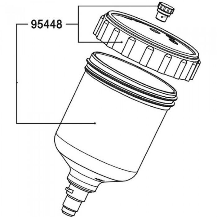 Кришка з пробкою для пластикового бачка SATA 125мл