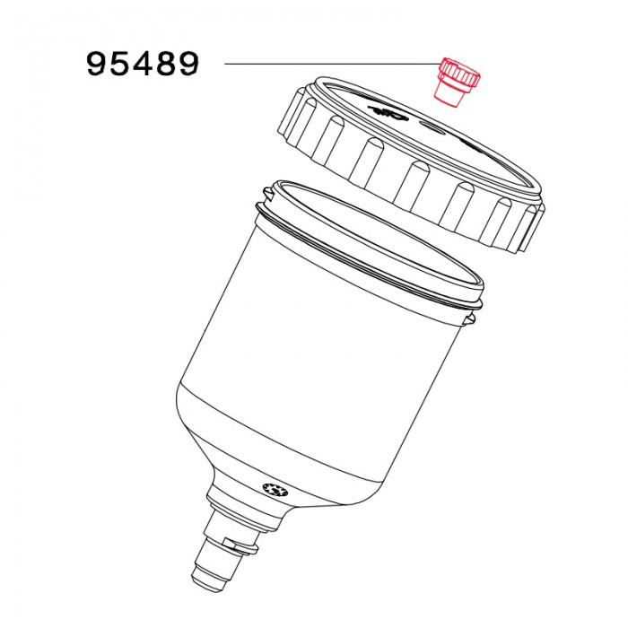 Пробка для кришки пластикового бачка SATA 95448