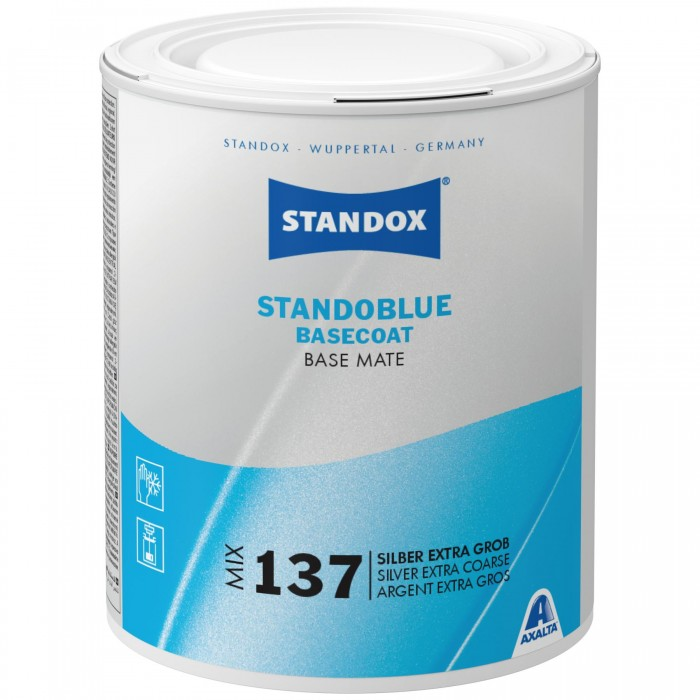 Базове покриття Standoblue Basecoat Mix 137 Silver Extra Coarse (1л)