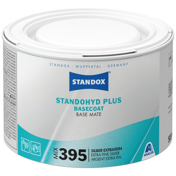 Базове покриття Standohyd Plus Basecoat Mix 395 Extra Fine Silver (500мл)