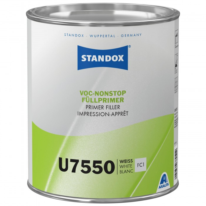 Грунт-наповнювач Standox VOC Nonstop Primer Filler U7550 White (3.5л)