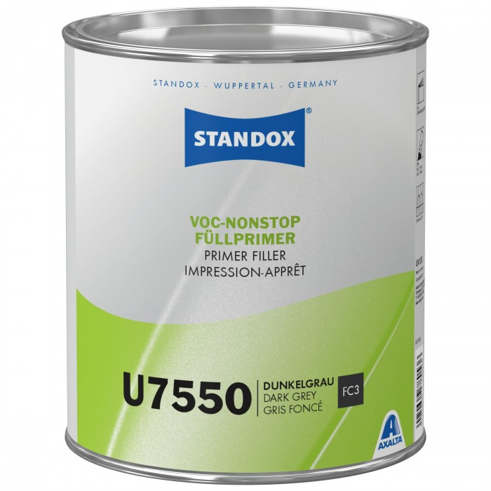 Грунт-наповнювач Standox VOC Nonstop Primer Filler U7550 Dark Grey (3.5л)