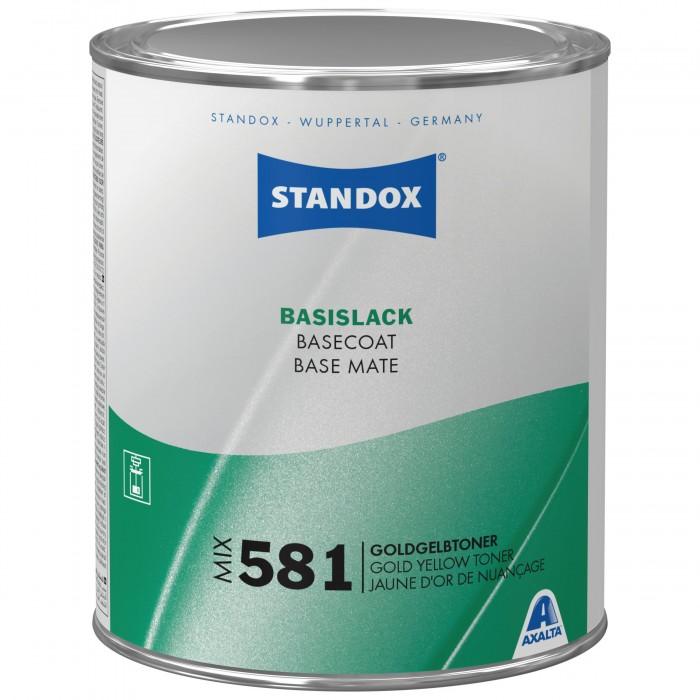 Базове покриття Standox Basecoat Mix 581 Gold Yellow Toner (1л)