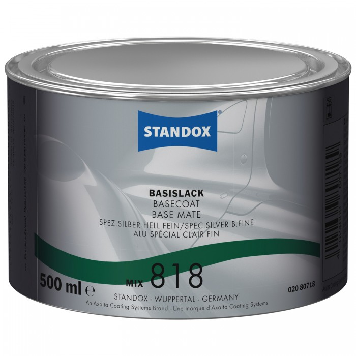 Базове покриття Standox Basecoat Mix 818 Special Silver Bright Fine (500мл)