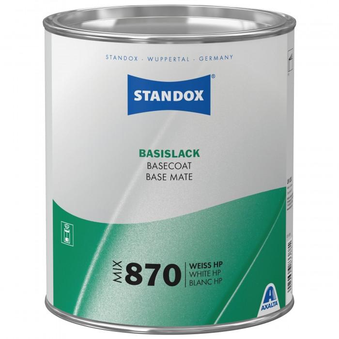 Базове покриття Standox Basecoat Mix 870 White HP (3.5л)