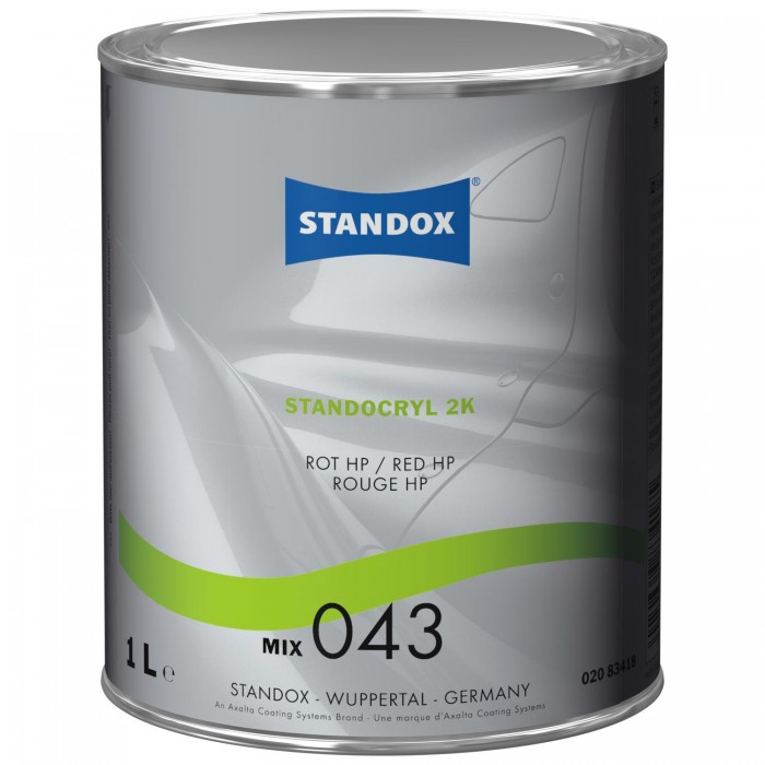 Двокомпонентна емаль Standocryl 2K Mix 043 Red HP (1л)