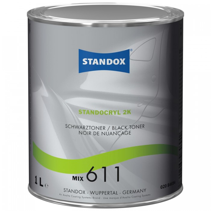 Двокомпонентна емаль Standocryl 2K Mix 611 Black Toner (1л)