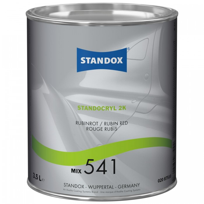 Двокомпонентна емаль Standocryl 2K Mix 541 Rubin Red (3.5л)