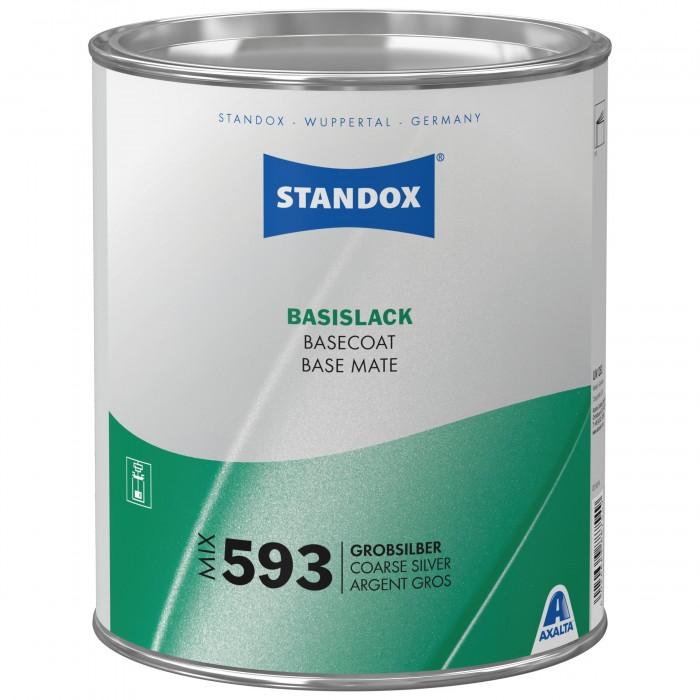 Базове покриття Standox Basecoat Mix 593 Coarse Silver (3.5л)