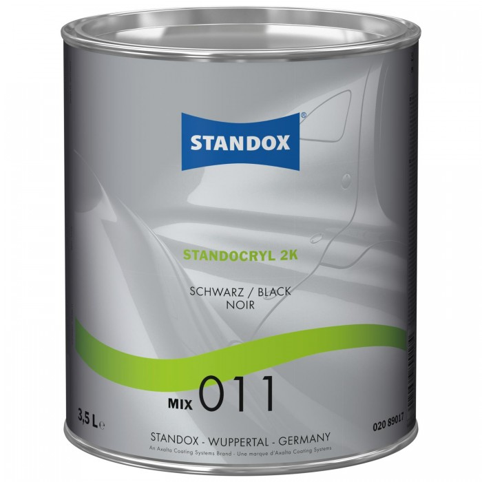 Двокомпонентна емаль Standocryl 2K Mix 011 Black (3.5л)